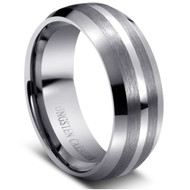 "Tungsten Carbide Ring "" High Polish & Matt Finish """