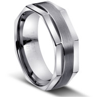 "Tungsten Ring "" Matte & polished """
