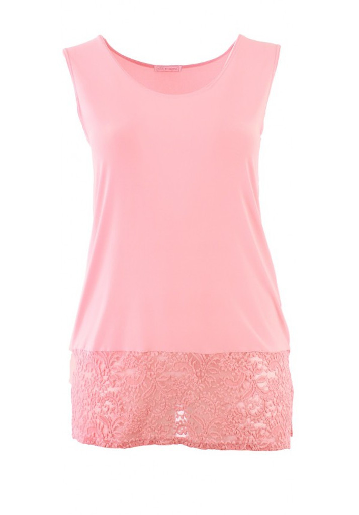 CLEARANCE Essential Coral Lace Bottom Tank