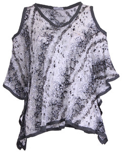 Premium Lace Sleeved Poncho