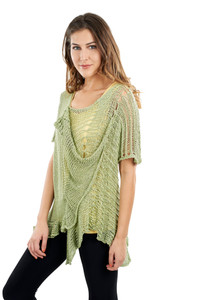 Lacey Sleeved Poncho