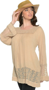All About the Town Lacey Insert Tunic