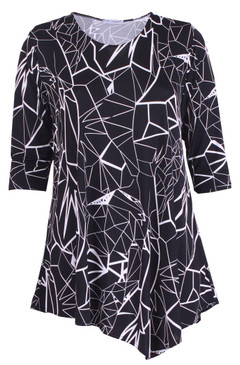 Asymmetrical Hemline Bold and Beautiful Top