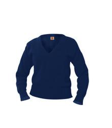 Heavy Guage V-Neck Pullover Sweater