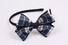 Small Headband with Plaid Bow
