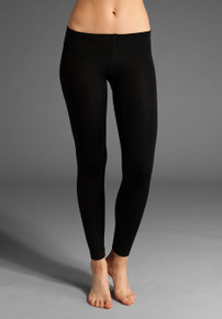 Girl's Footless Leggings (Black)