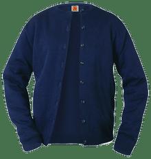 Crew Neck Fine Gauge Cardigan Sweater 4917