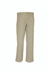 Boys khaki Regular And Slim Flat Front Pant (tcs)