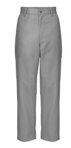 Gray Boys Regular And Slim Flat Front Pant_DAJA