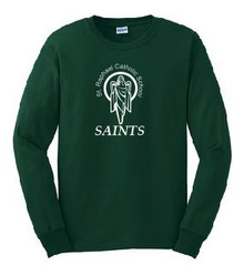 Cotton T-Shirt Long Sleeve with Logo, Spirit Wear (1042)