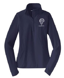 Ladies Half Zip Sport-Wick Pullover with Logo, Spirit Wear (1042)