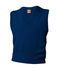 V-Neck Sweater Vest with Logo (1001)