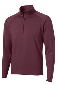 Quarter-Zip Sport-Wick Pullover with Logo, (1001)