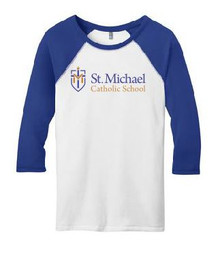 Raglan T-Shirt 3/4 Sleeve with Logo, Spirit Wear (1045)