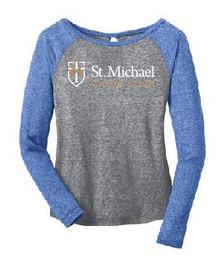 Raglan T-Shirt Long Sleeve (Juniors) with Logo, Spirit Wear (1045)