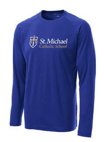 Performance T-Shirt Long Sleeve with Logo, Spirit Wear (1045)