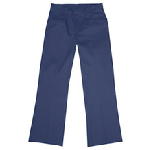 Girls Flat Front Pants, Half (Plus) Size (1001)