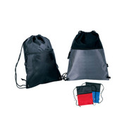 Drawstring Backpack W/ Zipper Pocket