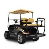Genesis 300 Aluminum Golf Cart Rear Seat Kit with Tan Cushion Set For EZGO TXT
