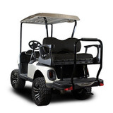 Genesis 250 Golf Cart Rear Seat Kit with Deluxe Black Cushions For a EZGO RXV