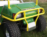 Lifted Club Car DS Golf Cart Brush Guard - Color Powder Coated