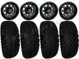 "Golf Cart Wheels & Tires Rims RX290 Matte Black 12"" Wheel AT 23/10.5-12Tire"