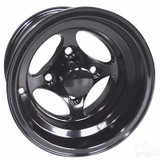 "Club Car DS Golf Cart Wheels, Tires & Lift Package Rims Indy Black 10"" Wheel"
