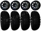 "Golf Cart Wheels & Tires Rims RX280 Matte Black 10"" Aluminum Wheel AT 22/11-10"