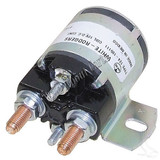 12V Four Terminal Silver Solenoid, Yamaha G2-G16 4 Cycle Gas 85-02