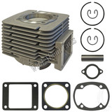 Cylinder and Piston Kit, Yamaha G1 Gas Except 82