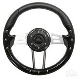 """Club Car Aviator 4 Black Steering Wheel 13"""" Diameter"""