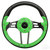 "Club Car Aviator 4 Lime Green Steering Wheel 13"" Diameter"