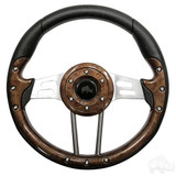 "Club Car Aviator 4 Woodgrain Steering Wheel 13"" Diameter"