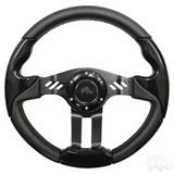 """Club Car Aviator 5 Black Steering Wheel 13"""" Diameter"""