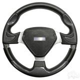 Club Car Bonneville Carbon Fiber & Brushed Aluminum Spokes Steering Wheel