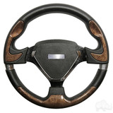 Club Car Bonneville Woodgrain Spokes Steering Wheel