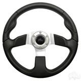 Club Car GT Black w/Brushed Aluminum Steering Wheel W/ Hub
