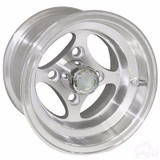 EZ GO RXV Golf Cart Wheels, Tires & Lift Package Rims Indy Machined 10""