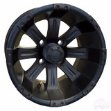 EZ GO RXV Golf Cart Wheels, Tires & Lift Package Rims Matte Black 10""