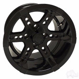 EZ GO RXV Golf Cart Wheels, Tires & Lift Package Rims Black 12""