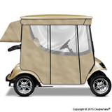 Doubletake 2 Passenger Golf Cart Enclosure Beige
