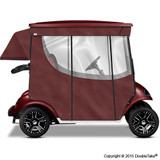 Doubletake 2 Passenger Golf Cart Enclosure Burgundy