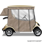 Doubletake 2 Passenger Golf Cart Enclosure Champagne