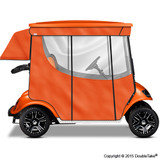 Doubletake 2 Passenger Golf Cart Enclosure Orange