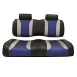 Madjax Tsunami Black–Liquid Silver w/ Freestyle Wave EZGO TXT/RXV Front Seat Cushions
