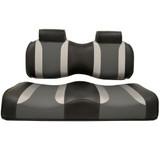 Madjax Tsunami Black–Liquid Silver w/ Lagoon Gray EZGO TXT/RXV Front Seat Cushions