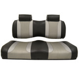 Madjax Tsunami Black–Liquid Silver w/ Silver Rush Club Car Precedent Front Seat Cushions