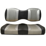 Madjax Tsunami Black Liquid Silver W/ Silver Rush Custom Rear Seat Cushions