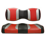Madjax Tsunami Shockjet Liquid Silver W/ Hot Rod Red Custom Rear Seat Cushions