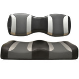 Madjax Tsunami Black Liquid Silver W/ Lagoon Grey Custom Rear Seat Cushions